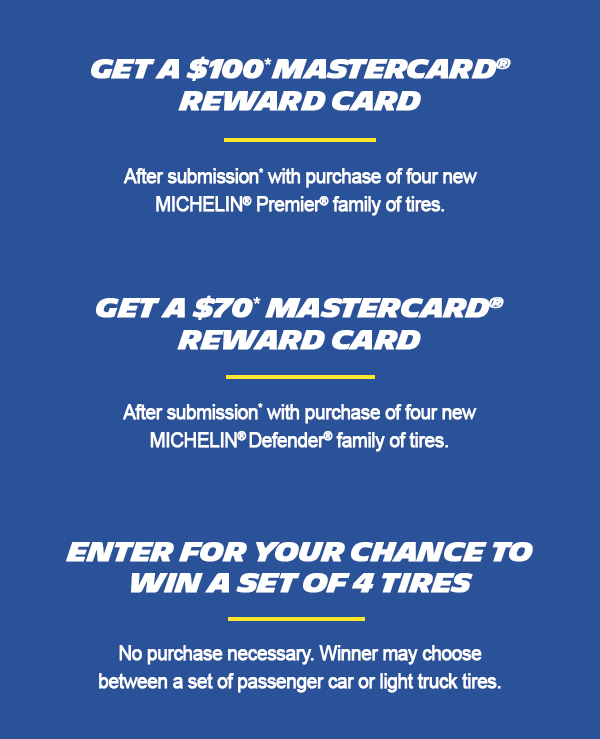 Get $100 via Mastercard® Reward Card after online submission with purchase*